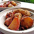 Tajine de radis et pommes de terre