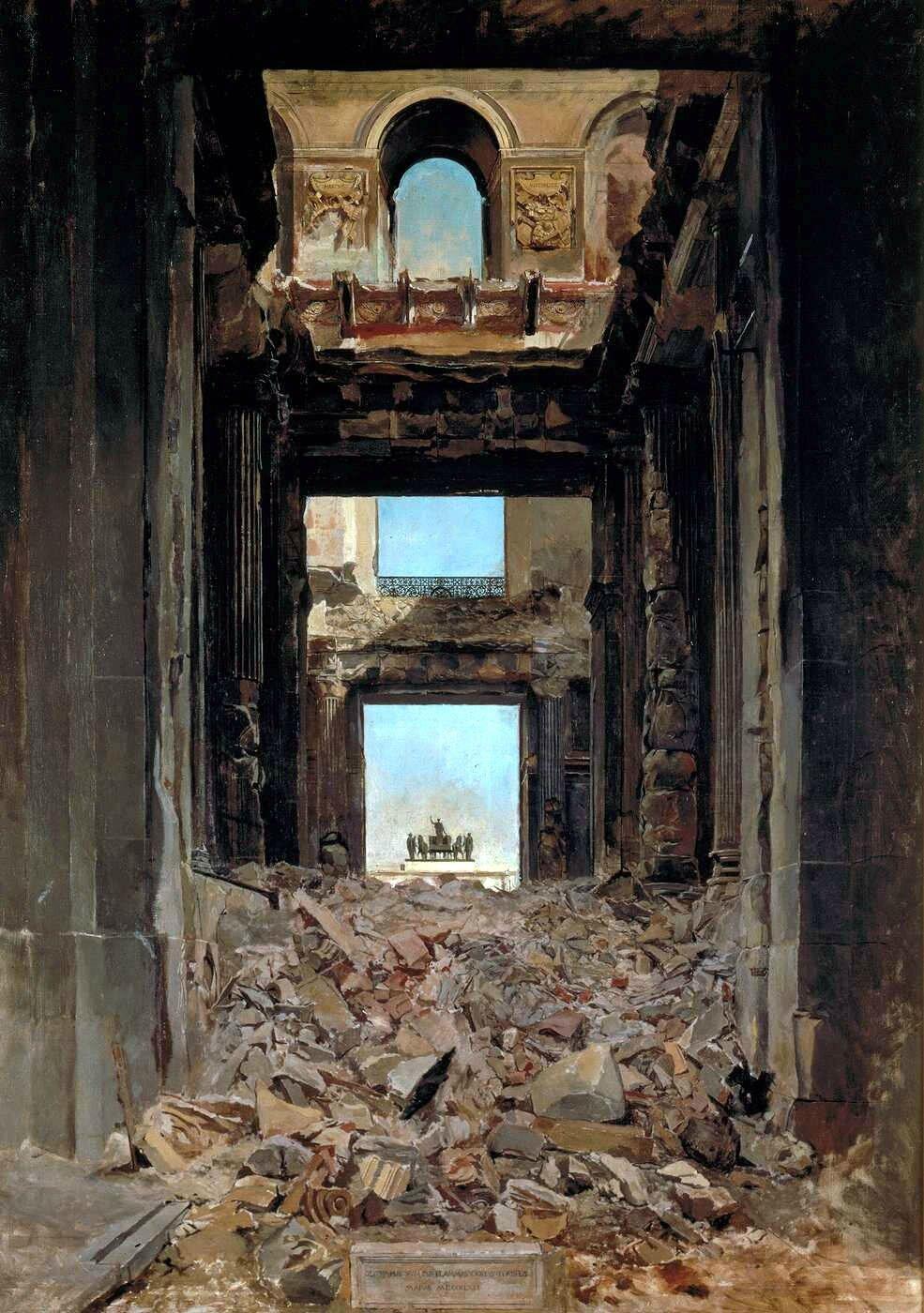 Meissonnier, ruines des Tuileries