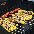 Brochettes colombo mangue a la plancha