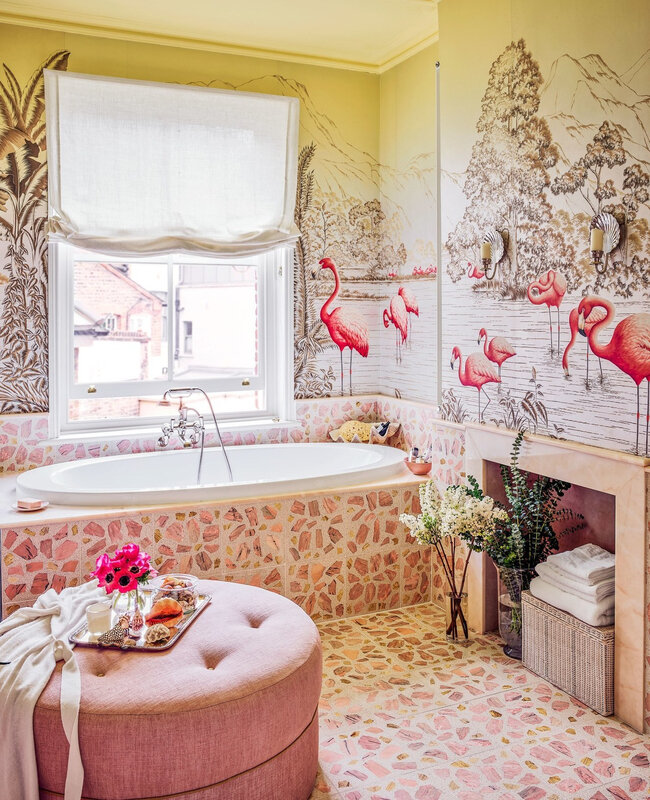 Colorful wallpapered home in London photos by Douglas Friedman (9)