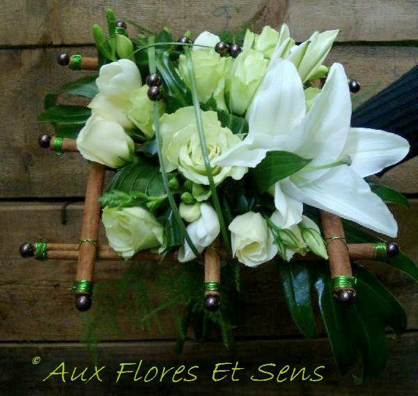 Bouquet Damier Lys, Cannelle et Rose