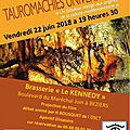 Tauromachies universelles au club l'aficion de béziers