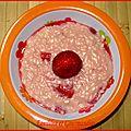 Risotto sucré aux fraises