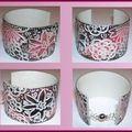 bracelet esclave noir rose boutique