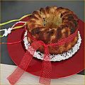 Bundt cake aux poires et chocolat caramel