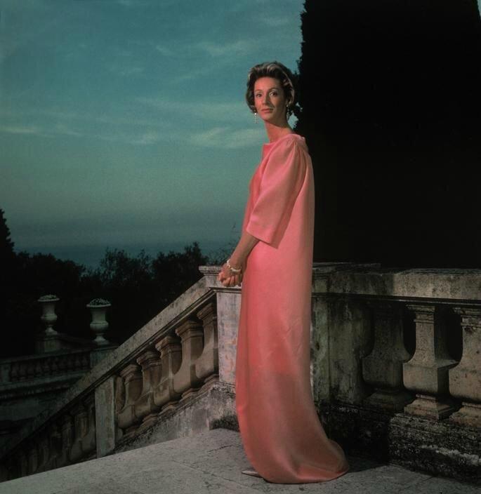 Marella Agnelli wearing Balenciaga