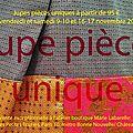 Vente exceptionnelle de jupes pièces uniques 9/10 et 16/17 novembre 2012