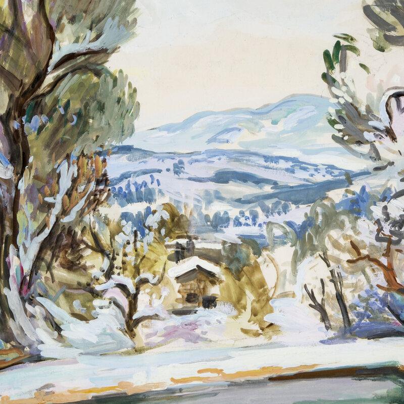 Photo-aquarelle-Louis-Adolphe-Riou-paysage-de-montagne-sous-la-neige