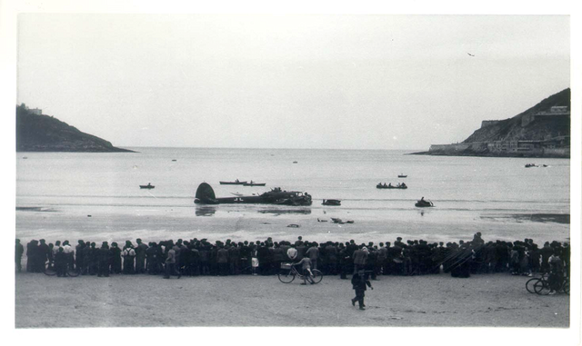 Baie de San Sébastien en 1940