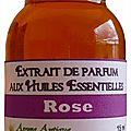 Extrait de parfum rose - perfume extract rose