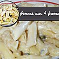Pennes aux 4 fromages