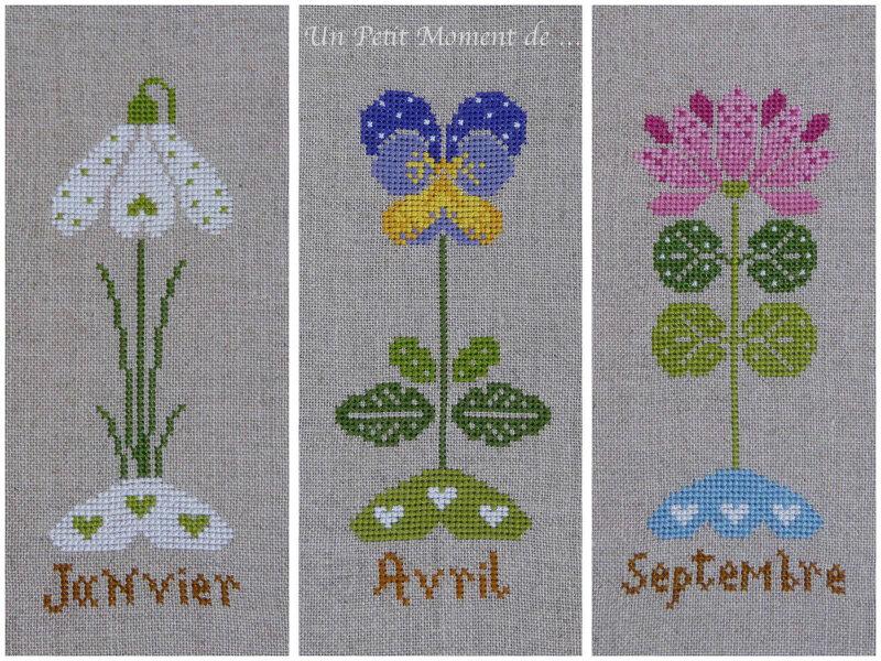 fleurs de janvier, avril et septembre