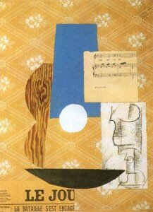 9 Picasso, Guitare, partition, verre