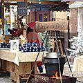Ambiance médiévale au marché de noël à ribeauvillé