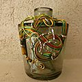 Vase decoration fil aluminium
