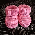chaussons rose bambou 1