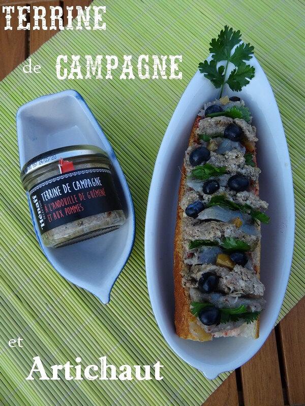 Sandwich Terrine de Campagne et Artichaut
