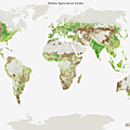 Pasture in Brown VS Cropland in Green