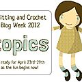 Semaine des blogs tricot et crochet 23 au 29 avril