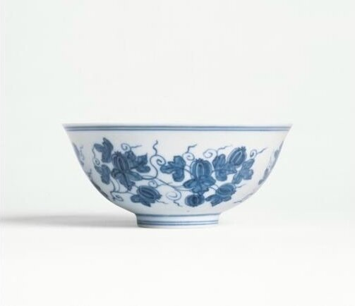 A magnificent blue and white 'Palace Bowl', Mark and period of Chenghua (1464-1487)