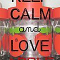 carte Keep calm and love apple2