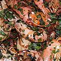 Gambas et fruits de mer en persillade