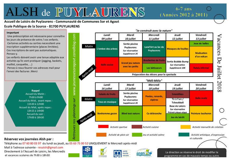 Plannings Vacances de Juillet 2018 6-7 ans (1)