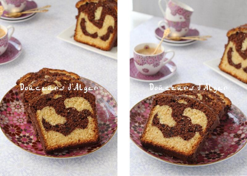 cake marbré noisettes benberim