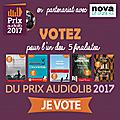 Sélection des 5 finalistes prix audiolib 2017