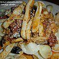 Orecchiette aux calamars, chorizo et tomates séchées