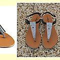 Sandales customisées pour miss f