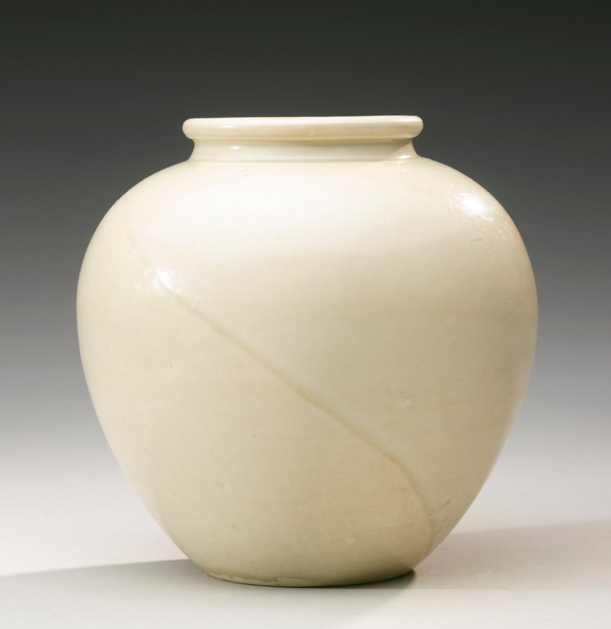 A 'Xing' white-glazed jar, Tang dynasty