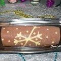 Bûche poire / chocolat - sans gluten - hiver noël