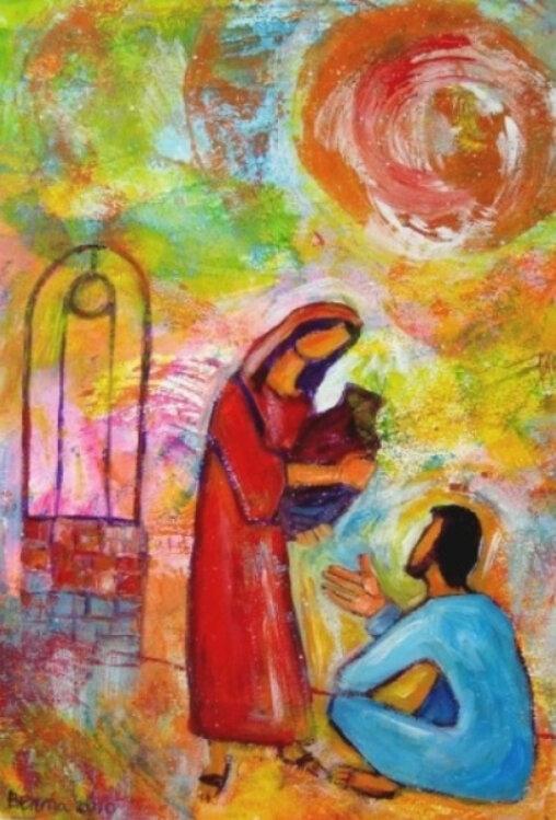 Jn 4, la Samaritaine et Jésus, Berna Lopez