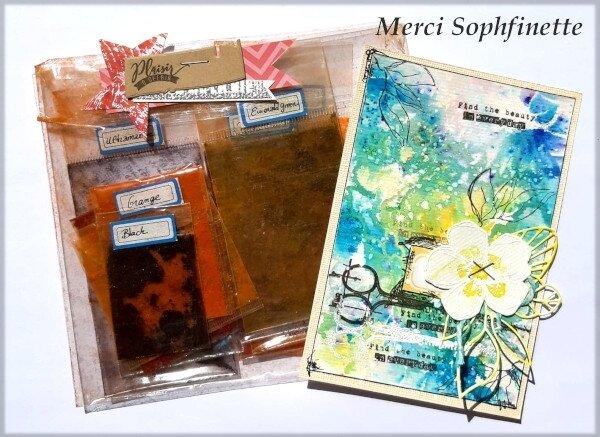 Carte + Brushos de Sophfinette - Avril 2019