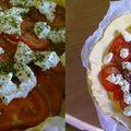 Tarte à la tomate et au chèvre.