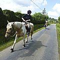 balade à cheval médiévale - Abbaye de Hambye (84)