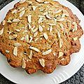 Cake au potimarron, raisins et amandes façon carrot cake