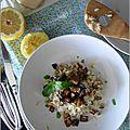 Risotto au citron & aux aubergines