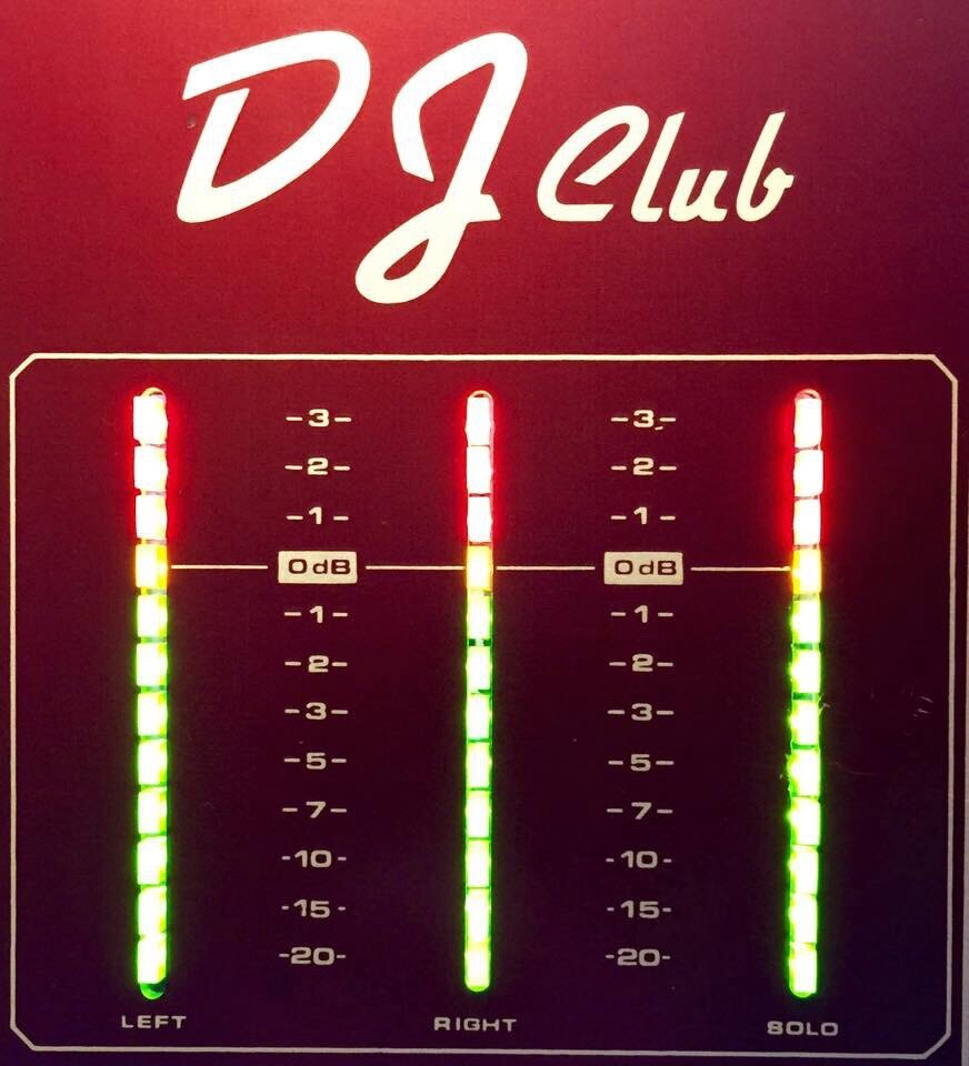 LED : vumètres de la DJ Club