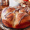 Brioche fourrée à la pâte à tartiner