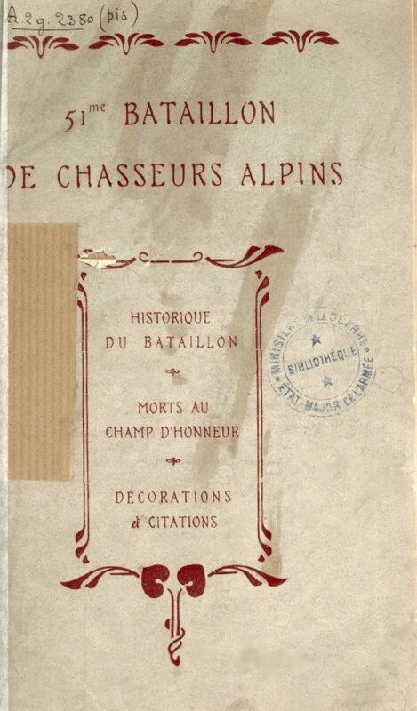 Historique 51e bataillon Chassseurs (1)