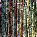 Forêt #32, 2011, acrylique, collage et coulures sur papier, 45 x 32 cm