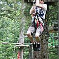 Parc aventure forestier d'un arbre à l'autre la féclaz