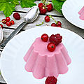 Panna cotta coco & fruits rouges (vegan)