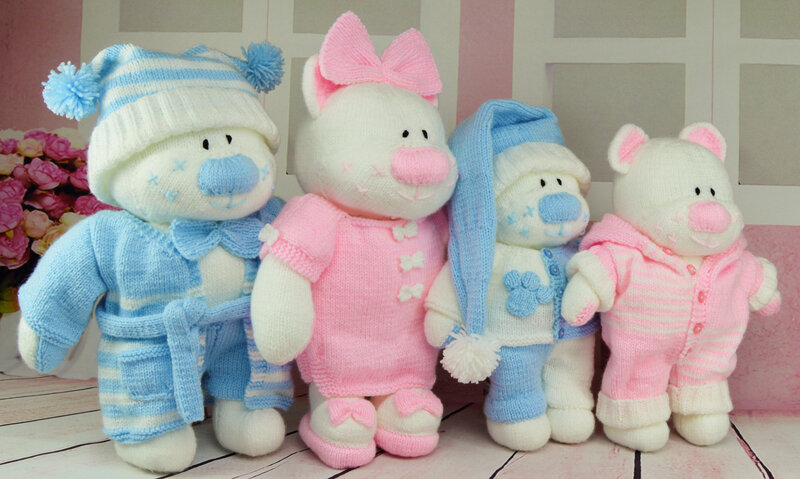 Traduction The Aventures Bedtime Bears Beau, Belle, Boo, Bess - Knitting by Post