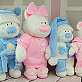 The aventures bedtime bears beau, belle, boo, bess - knitting by post