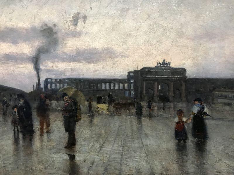 Siebe Ten Cate - Le Carrousel et les ruines des Tuileries incendiees 1871