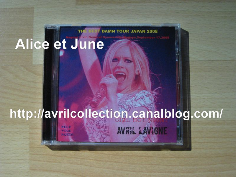 Avril Lavigne Girl Hot Night 2008