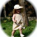 capeline et robe trapeze citronille